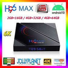 H96 MAX 6K Smart TV Box 2/4GB + 16/32/64GB ANDROID 10.0 4K Dual WiFi Quad-Core