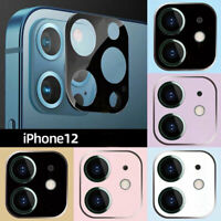 For iPhone 12 Pro Max Mini Camera Lens Tempered Glass Protector Metal Frame