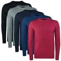 Men's Plain Jumper Crew Neck Pullover Knitwear D&H Men's Sweater BNWT