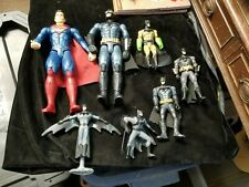 6 Different Batman Figures & 1 Superman Figure 12""