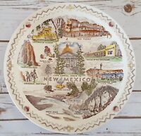 Vernon Kilns New Mexico Collectors Plate Santa Fe Taos Pueblo White Sands 10 1/4