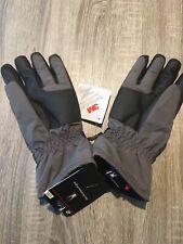 NWT Men's L/XL Spyder Gray and Black Ski Gloves w/ 3M Insulation MSRP is $50 BG