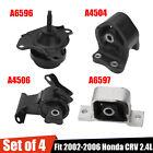 4pcs Engine Motor Transmission Mount Kit Fit 02-06 Honda Crv 2.4l For At Trans