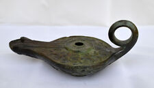 Bronze Oil Lamp - Leaves Design - Ancient Greek Bronze Cast Method