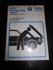 Customer Services Booklet BMW Bereitschaftsdienst Europe 1980/81 Emergency