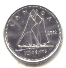 2012 Canadian Ten Cent Bluenose Schooner Dime Coin - Canada - Queen Elizabeth II