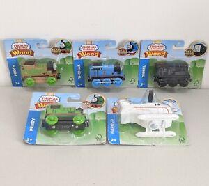 Set of 5 Thomas & Friends - Wood, Thomas the Tank Engine, Percy, Harold & Diesel