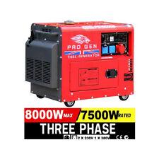 Progen Diesel Generator 3 Phase Super Silent Electric Start PG10000W 8KVA 2018