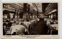 "(Gj104-372)  Cunard White Star ""Queen Mary"" Cabin Restaurant, Unused c1930 VG"
