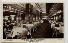 "(Gj104-372)  Cunard White Star ""Queen Mary"" Cabin Restaurant, Unused c1930 VG"