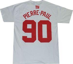 New York Giants Jason Pierre Paul Super Bowl 46 Reebok Gildan T Shirt  Clearance