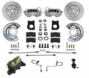 1967-69 Ford/Mercury Leed Brakes Front Manual Disc Brake Conv Kit (D&S rotors)