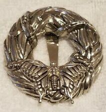 Neiman Marcus John Hardy Butterfly Pin Brooch Pendant Silver