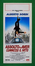 L55 LOCANDINA  ASSOLTO PER AVER COMMESSO IL FATTO ALBERTO SORDI A. FINOCCHIARO