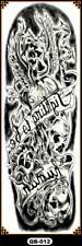 Temporary Tattoo Sleeve Full Arm Skulls Death Evil Removable Body Art QB-012