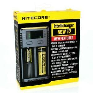 *NEW* Nitecore I2 Charger Universal Intellignt 18650 26650 18350 Battery UK Plug