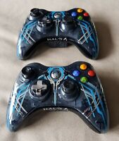 2 x Official Xbox 360 Halo 4 Controllers - Limited Edition - DAMAGED FAULTS