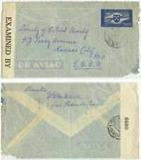 1942 Sintra Portugal WWII censored 3$50 Air PSE cover to Missouri