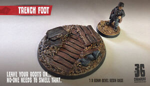 Trench Foot 60mm Round Bevel Resin Base