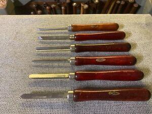 Craftsman Wood Turning Lathe Chisels HSS Tools Knives Gouge Lot Vintage Skew