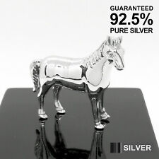925 Sterling Silver Miniature Horse Animal Figurine ✔️Solid✔️Quality Gift✔️UK