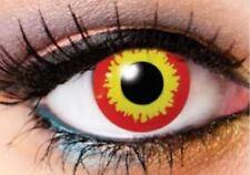 Crazy Color Contact Lens Lentilles Kontaktlinsen Wildfire Zombie Fire Fun Party