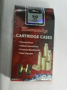 Hornady Rifle Cartridge Cases, Unprimed, 243 Winchester, 50 Pieces, #8620