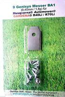 Messer Ersatzmesser mit Schrauben Mähroboter Gardena® R40Li R45Li R70Li (9Stück)