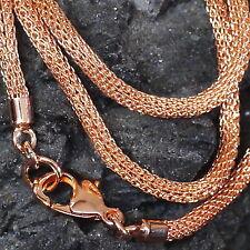 schöne Strickkette Bronzekette 3mm L:46 cm aus Bronze Kette Kordelkette Kordel