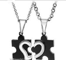 Couple Necklace Set Stainless steel Titanium mens gifts Best friend present