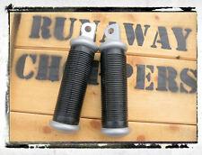 Repose pied JACKHAMMER, aluminium satin, RunawayChoppers, Pour Harley-Davidson