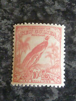 NEW GUINEA POSTAGE STAMP SG188 10/- PINK LIGHTLY-MOUNTED MINT