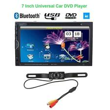 "Double 2DIN 7"" Car DVD Player Bluetooth FM Radio USB/SD Aux Input /W Rear Camera"