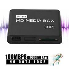 Mini Media Player 1080P HDD Media TV Box Video Multimedia Player MMC Card Reader