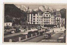 Interlaken Hotel Eden 1947 RP Postcard Switzerland 392a