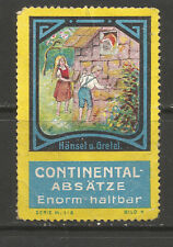 Continental Absatze advertsing stamp/label (#4 Hansel & Gretel) (German text)