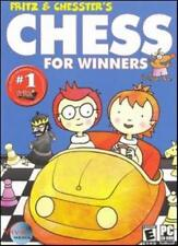 Fritz & Chesster's Chess for Winners PC CD teaches kids hints tips strategy game
