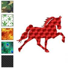 Horse Trotting Decal Sticker Choose Pattern + Size #889