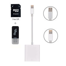 Lightning & Micro USB 2 in 1 SD Card Memory Reader Adapter For Data Transmission