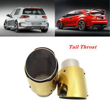 2PCS Car Scorpion Soil Gold Welding Modified Tail Throat SUV Exhaust Pipe Trim