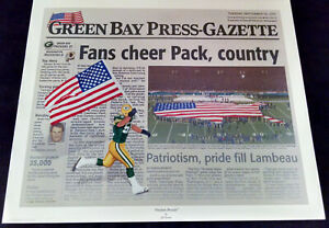 """Packer Hall Of Fame """"FREEDOM PREVAILS"""" Lithograph /+Photo signed by Chris Gizzi"""