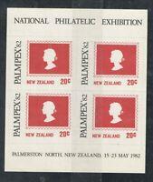 New Zealand  Palmpex 1982 20c Red/Black MS VF UMM MNH