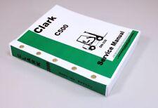 Clark C500 Forklift Service Repair Manual Technical Shop Book Mpn Oh 339