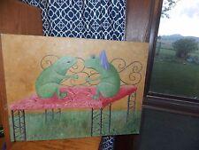 Frog Original Oil Painting Prince Charming