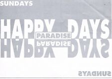 HAPPY SUN-DAYS Rave Flyer Flyers year unknown A5 Paradise Angel London N1