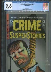 CRIME SUSPENSTORIES 20 (1997) CLASSIC JOHNNY CRAIG COVER CGC NEAR MINT PLUS 9.6