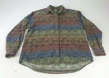 Cabelas Womens Aztec Button Shirt Size Large Cotton Hunting Fishing Camping  w7