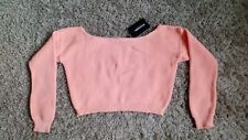 Pretty Little Thing del hombro Crop Jumper Size SM BNWT