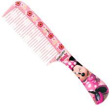 DISNEY MINNIE MOUSE LICENSED GIRLS PLASTIC HAIR CARE HANDLE COMB BRUSH 20cm