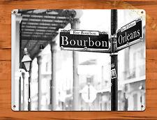 TIN SIGN Orleans Street Rustic Bourbon Shop Market French Quarter Bar A867